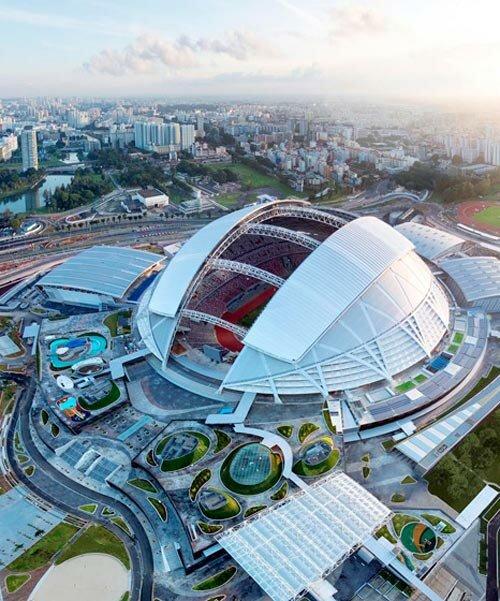 Singapore Sports Hub near Opus