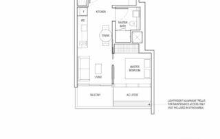Type A1 1 Bedroom + Study