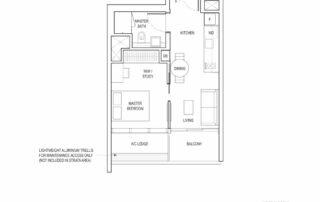 Type A2 1 Bedroom + Study