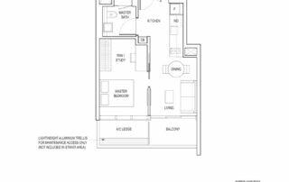 Type A3 1 Bedroom + Study