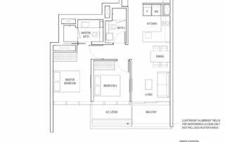 Type B3 2 Bedroom + Study