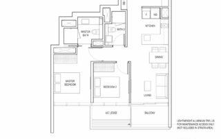 Type B4A 2 Bedroom + Study