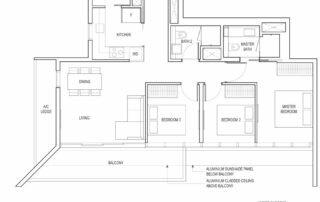 Type C2A 3 Bedroom