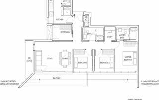 Type D4 4 Bedroom + Study
