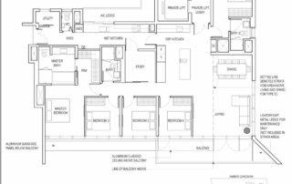 Type E3 5 Bedroom + Study